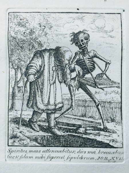 Plate XLII from 'The Dances of Death…' – The Old Man