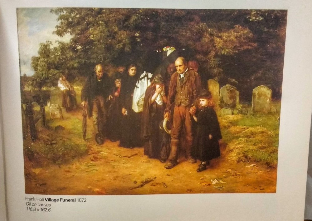 Frank Knoll's 'The Village Funeral', pictured in 'A Young Person's Guide to the Gallery'