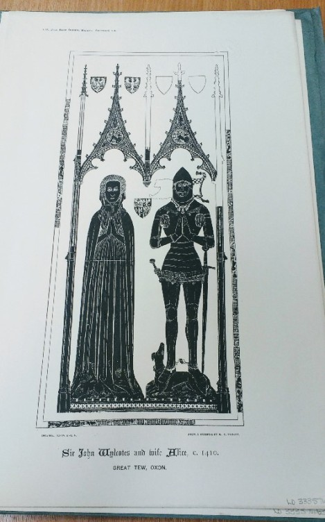 Brass rubbing from 'The Oxford Portfolio of Monumental Brasses'