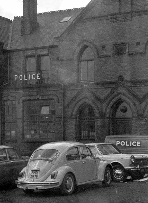 1969. Image shows the frontage of Millgarth Street Police Station. From www.leodis.net, (c) Leeds Library and Information Service