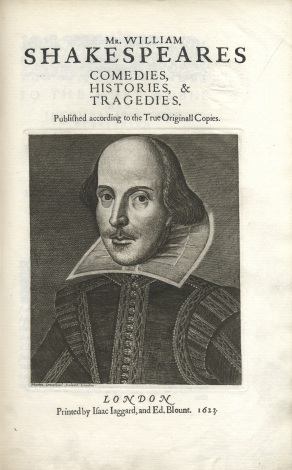 1 Shakespeare, comedies etc, 1623 facsimile, SRFSH1M566, title page