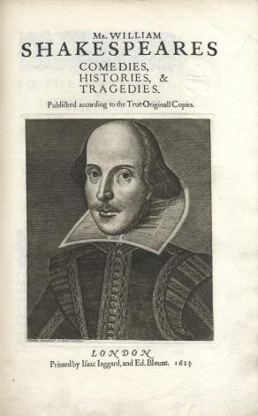 1 Shakespeare, comedies etc, 1623 facsimile, SRFSH1M566, title page