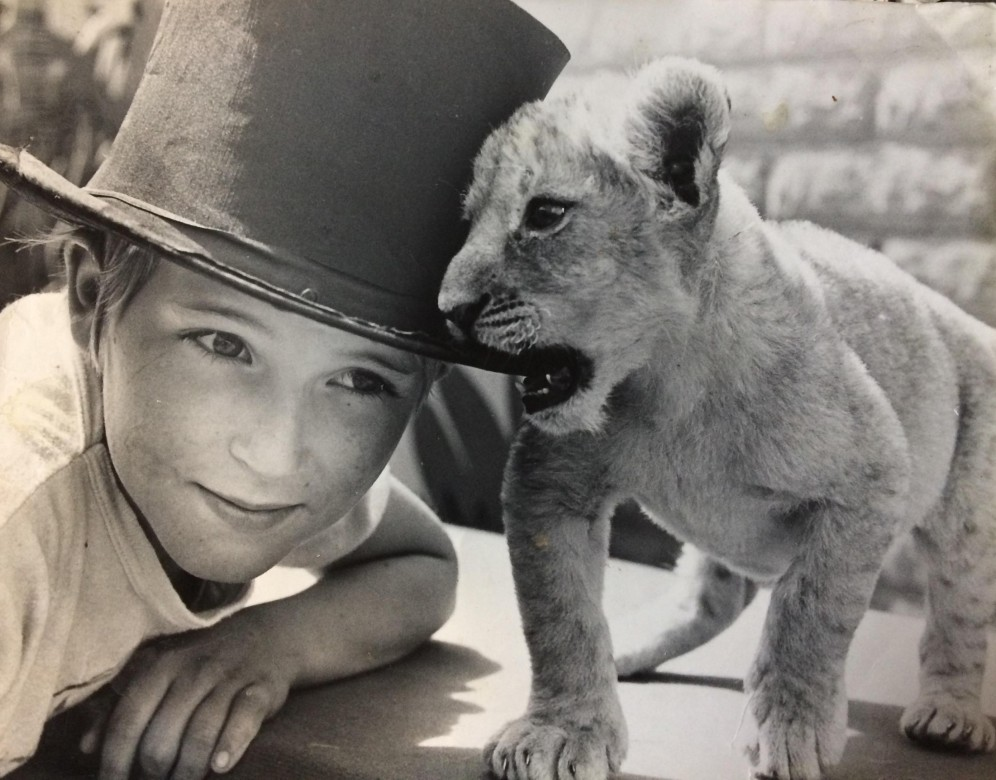Carl Denver with young lioness