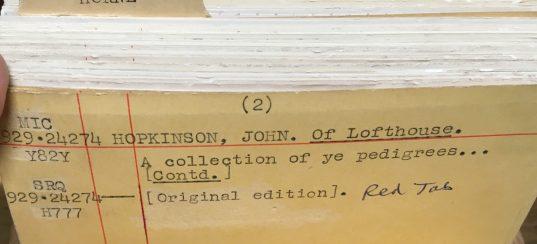 Hopkinson pedigrees MSS 1