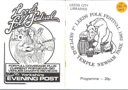 Copy of the 1982 Programme, held in Local & Family History Library stock