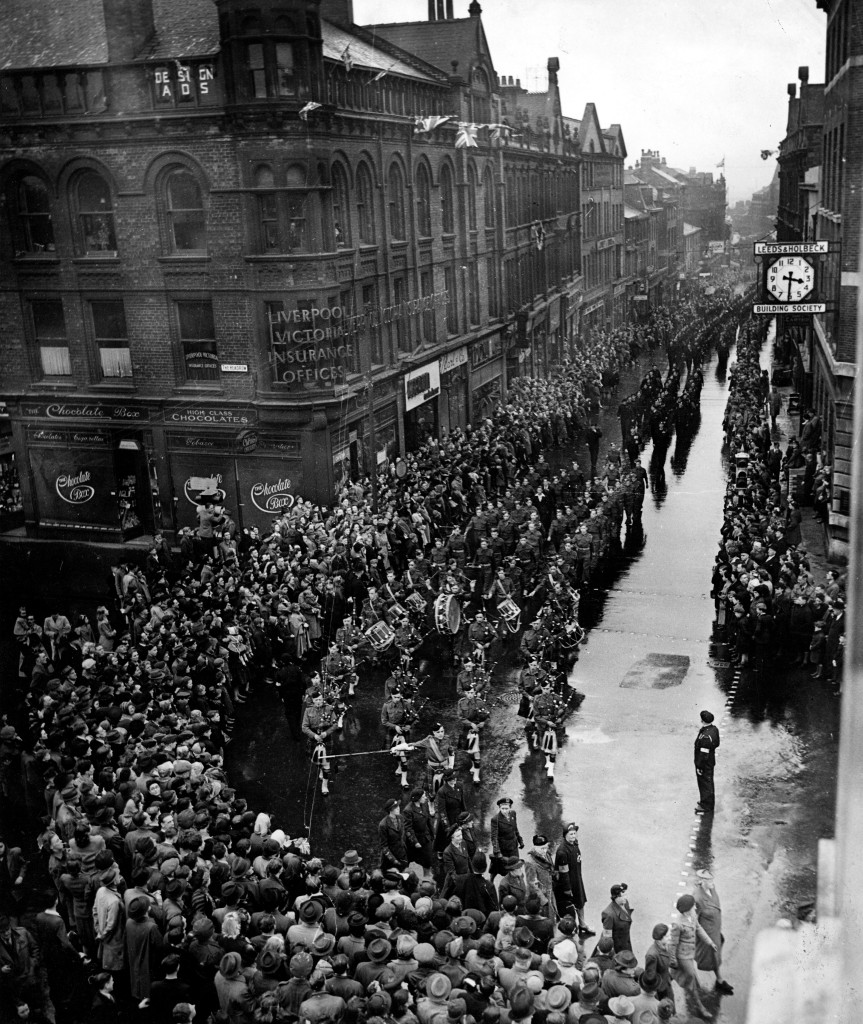 Image of VE Day celebration parade.