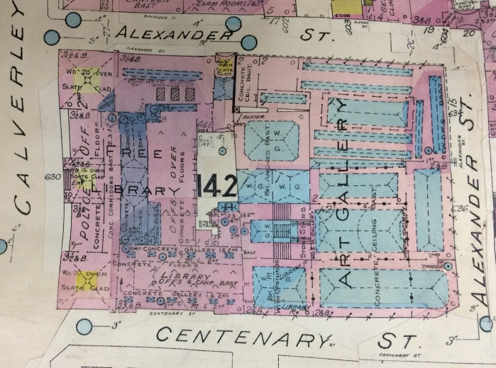 Goad map showing Leeds Central and the City Art Gallery.