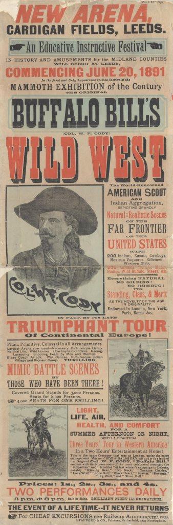 Playbill for Buffalo Bill's Wild West, June 1891