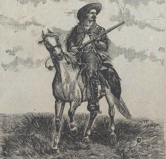 Image of Buffalo Bill on horseback