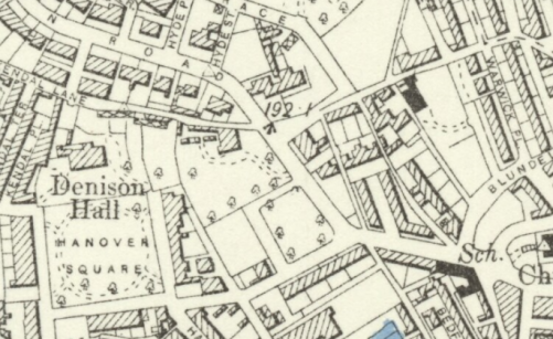 1894 Ordnance Survey map of Little Woodhouse, showing Hanover and Woodhouse Square
