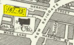 1932 Ordnance Survey Map of the Merrion Gardens of Rest