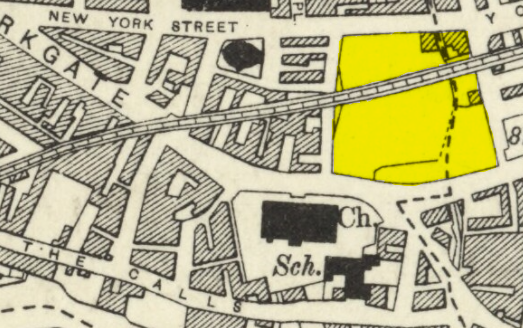 1932 Ordnance Survey Map showing Penny Pocket Park split by embankment