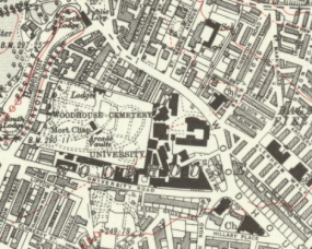 1932 Ordnance Survey map of the St. George's Field area