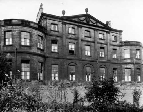 7th September 1949. View of facade of Denison Hall (nursing home,) looking north with gardens in front. Denison Hall was built in 1786 by William Lindley for John (Wilkinson) Denison (c) Leeds Libraries