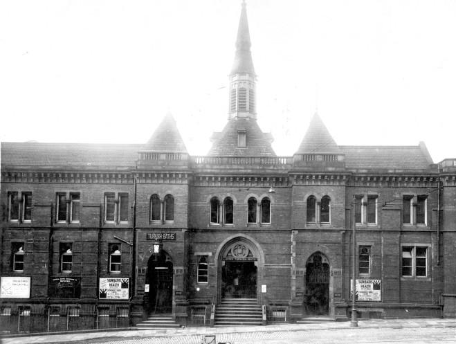 1928 photograph of Cookridge Street Baths.